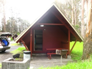 Where we stayed the first night - quint cabins at Volcanos National Park