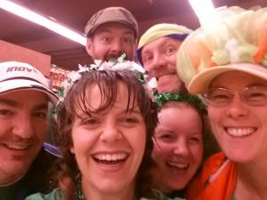 The Bremerton Crowd outdoes the Ellen Selfie at the 2014 St. Pats Dash.